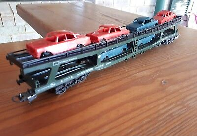 Lima car transporter with 6 cars. HO scale