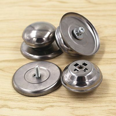 Replacement Stainless Steel 2Pcs Cookware Glass Cover Knob Pot Lid Handle