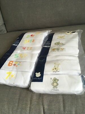 7 short sleeve bodysuits Primark 0 to 3 and 3 to 6 months