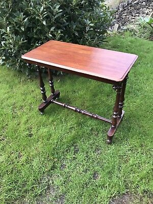 Antique Victorian Mahogany Side Console Occasional Table