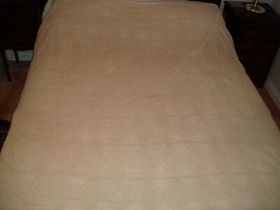 VINTAGE CROCHET BED COVER / THROW 6ft x 6ft 4inch