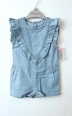 Girls Matalan Light denim Summer Playsuit Outfit 12 months up to 3 years