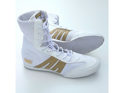 PRO-BOX JUNIOR BOXING BOOTS WHITE/GOLD - Training
