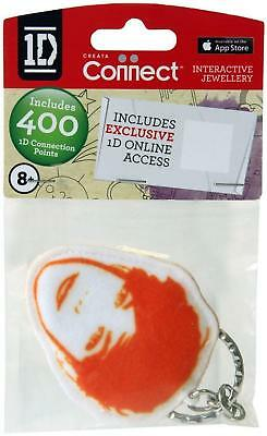 One Direction Interactive Jewellery - Fabric Keyring - Orange - Louis - New