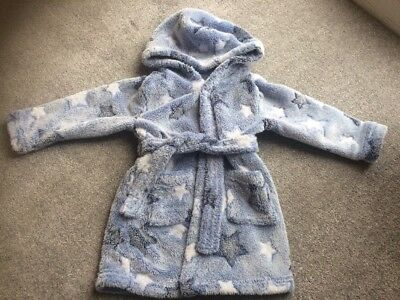 BOYS dressing Gown Age 18 - 24 Months Stars Baby Sleep Bedtime Extra Soft