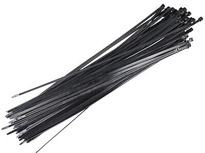 100 Black Plastic Nylon Cable Ties - 710mm x 9.0mm