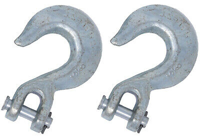 2 Spare Chain Slip Hooks - to fit Chain Links 9.5mm 3/8 inch