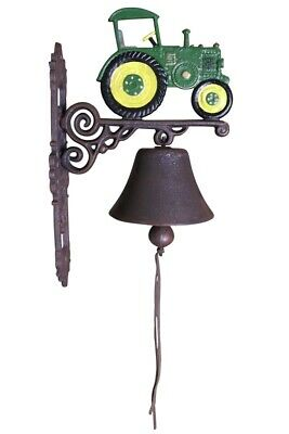 John Deere Tractor - Painted Cast Iron Outdoor Garden Bell