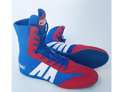 PRO-BOX JUNIOR BOXING BOOTS BLUE/RED - Training