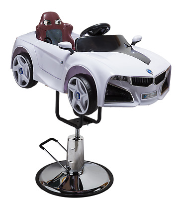 Barber Chair - Children  Chairs- Hair Styling New Style  - White Car