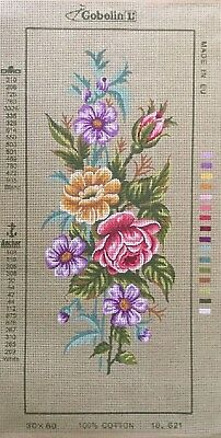 Coloured Flower Bouquet Tapestry To Stitch