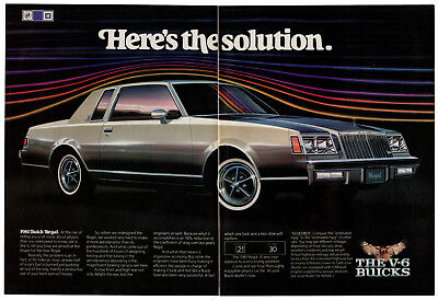 1981 BUICK Regal Vintage Original 2 page Print AD Aerodynamic coefficient drag
