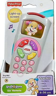 NEW BOXED Fisher Price Laugh & Learn Sis' Remote BLUE 35+ SONGS PHRASES  FP