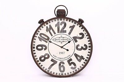 Antique Style Metal Vintage Hotel Pocket Watch Wall Clock