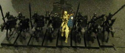 Warhammer Age of Sigmar Tomb Kings Skeleton Horsemen Regiment undercoated black