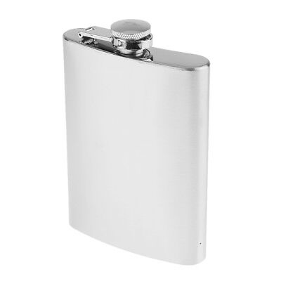 8oz Stainless Steel Alcohol Flagon Portable Hip Flask Whiskey Drinkware
