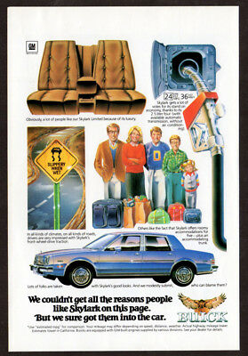 1981 BUICK Skylark Vintage Original Print AD - Blue car art get reasons people