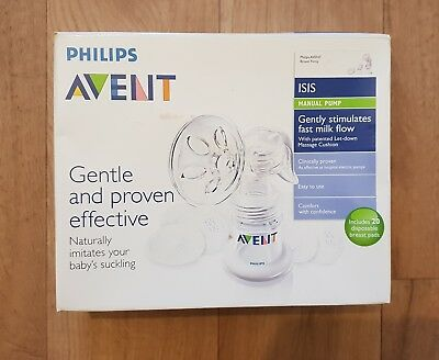 Philips Advent Manual Breast Pump USED with extras