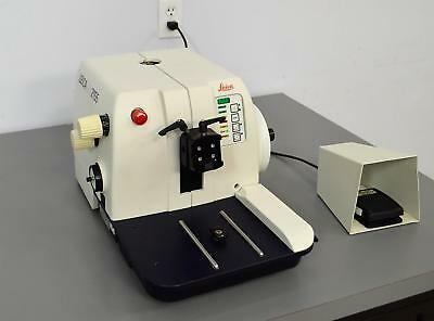 Leica RM2155 Rotary Microtome Histology Tissue Sectioning w/ Foot Switch 2155