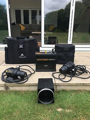 Bowens Estime 3000 AMF Flash Pack + Flash Head x2 + Extension Leads - See Descp.