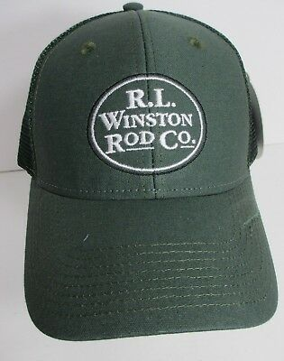 335d4329adf R L Winston Rod Co Hat Cap Trucker Snapback USA Embroidery Fly Fishing New