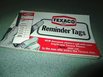 NOS TEXACO Service Reminder Stickers--book of 100--(1969)--only 10 cents each!