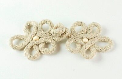 10 Pairs Looped Hessian Frog Fasteners/ Chinese Knot Button Closures
