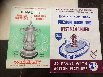 1964 - FA CUP FINAL PROGRAMME  PRESTON v WEST HAM UTD Lep Souvenir Inc