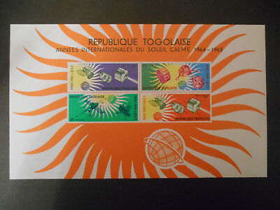 Togo 1964 Quiet Sun Years Miniature Sheet MNH (see photo) Sun, Space, Satellite.