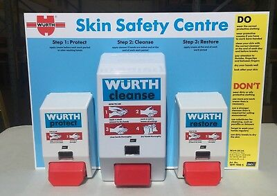 Wurth Health + Safety Cleaning Station With 3 Dispencers Idea For Wealfare Unit