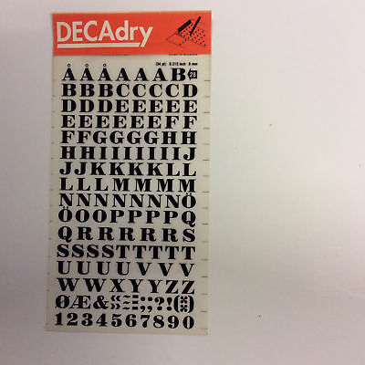 34pt 0.315inch Decadry Transfers No62 8mm Black