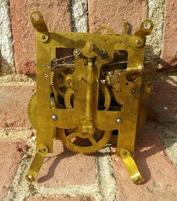 Antique Junghans Clock Movement Wall Pendulum Old Hanger J Unghans German Vtg