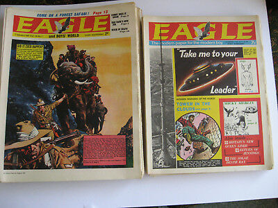 ORIGINAL EAGLE COMICS FULL YEAR COMPLETE  1967  VOL.18 #1 to #53 + XMAS  ISSUE