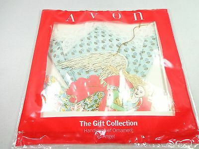 Avon Gift Collection Handkerchief lace borders ornament Angel New