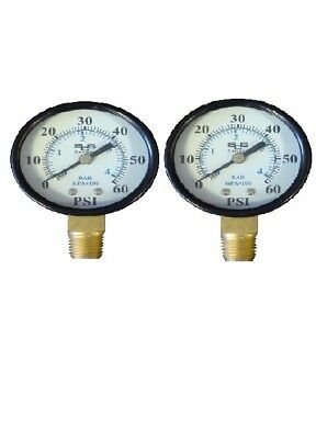 2 Pack of Pressure Gauge 0-60 PSI for Pentair and Hayward pool filters