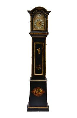 Antique Grandfather Baroque  Painted Scandinavian Long Case Clock