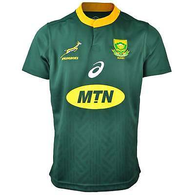 Asics South Africa Springboks Home Rugby Shirt 2018-19 - Green and gold
