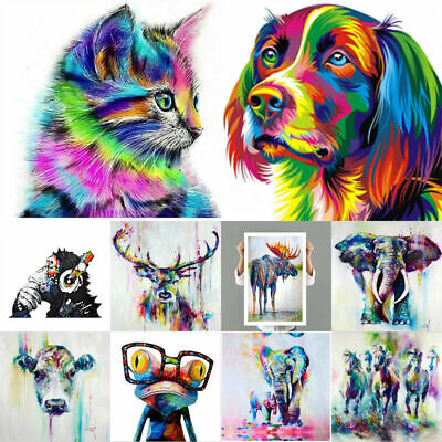 Stylish Abstract Art Oil Painting Canvas Artistic Picture Colorful Animals Image