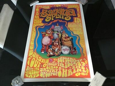 Hanna-Barbera THE BANANA SPLITS 1969 Shrine Concert Poster 1996 Repro 20X32