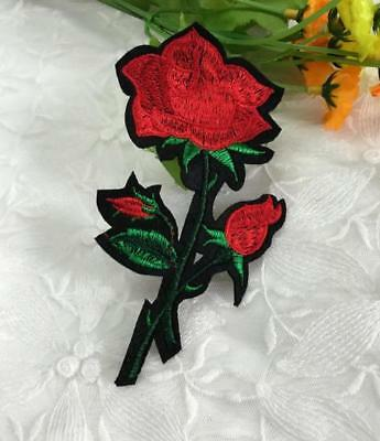 Rose Embroidered Clothes Repair Ding Decals Stickers Clothing Accessories