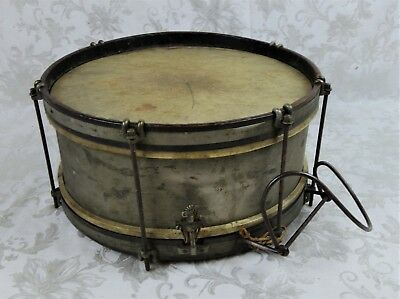 Vintage / Antique American WWI Wooden Field Snare Drum Marching Band USA