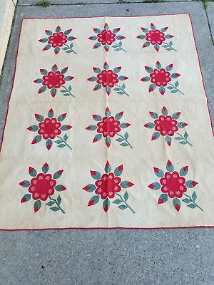 Rose quilt, antique