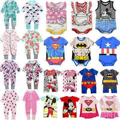 Baby Boys Girls Kids Marvel Romper Jumpsuit Bodysuit Playsuit Outfit Sets Child