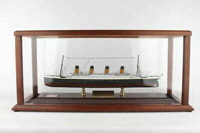 RMS Titanic Cruise Ship Ocean Liner 21.50 Wood Model With Display Case Set