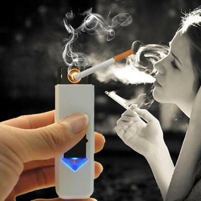 USB Electric Battery Rechargeable Flameless Lighter Windproof Random A+!