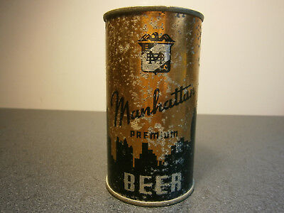 Manhattan Beer flat top beer can USBC 94-23 OT 4 panel variation Chicago IL
