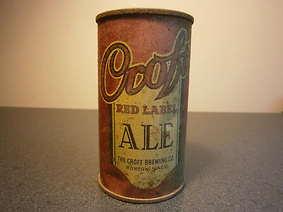 Croft Red Label Ale #2 flat top beer can USBC 52-20 IRTP Boston MA