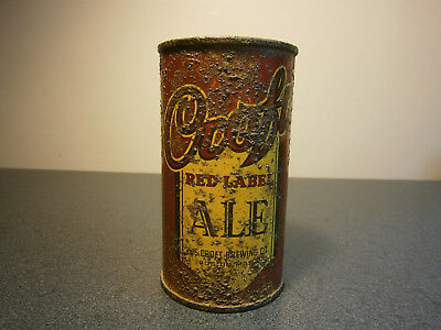 Croft Red Label Ale flat top beer can USBC 52-20 IRTP Boston MA