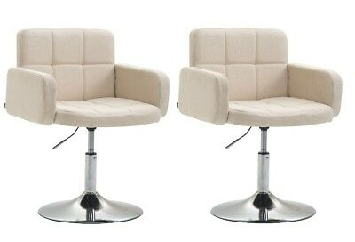 #HH42418 2x Lounger Los Angeles Stoff creme Cocktailsessel Loungesessel B-Ware