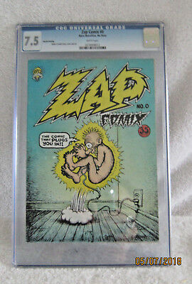 Vintage Zap #0. CGC Graded 7.5. 4th Printing Rare and a Beauty